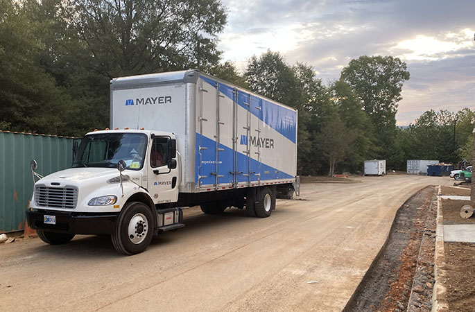 Mayer Construction site delivery